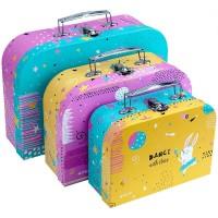 Набір валіз, картон (3шт) SML Magic Bunny