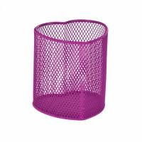 Подставка для ручек металлическая Сердце (розовая) ZB.3102-10