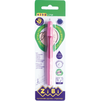Ручка шариковая для левши с резиновым грипом в блистере (синий)  ZB.2001-01-1