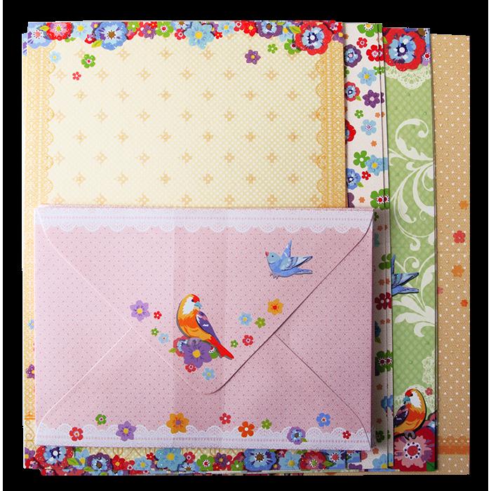 Заготовка для листівок з кольоровими конвертами Flight