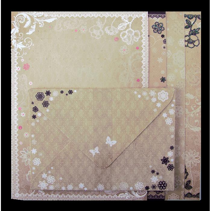 Заготовка для листівок з кольоровими конвертами Vintage
