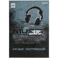 Зошит для нот Listen to the sound А4, 20арк.