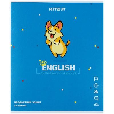 Тетрадь предметная 48 листов, клетка Pixel, английский язык (8шт)