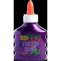Клей для слаймів кольоровий прозорий Глітер (фіолетовий) ZB.6116-07