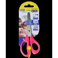 Ножницы детские с пружиной 138мм. (розовый)  ZB.5017-10