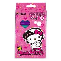 Пластилін восковий Hello Kitty 200г (12 кольорів)