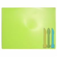 Дошка для пластиліну, салатова (3 стека в комплекті) ZB.6910-15