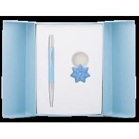 Набір подарунковий Star: ручка кулькова+брелок (синій) LS.122014-02