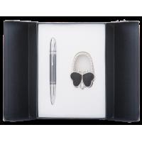 Набір подарунковий Lightness: ручка кулькова+гачок для сумки (чорний) LS.122030-01