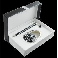 Набор подарочный Elegance: ручка шариковая + крючок для сумки (черный) LS.122029-01