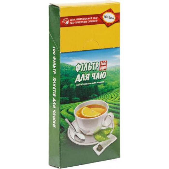 Фильтр-пакет для чая 7х12см. (100шт)  prpt.0289