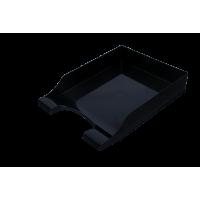 Лоток горизонтальний Симетрія (чорний) 80803